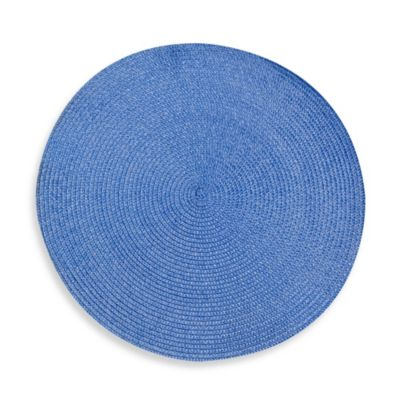 Indoor/Outdoor 15-Inch Round Placemat in Sky Blue