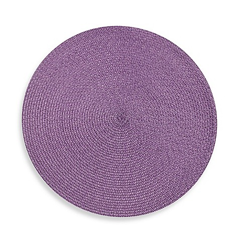 "Indoor/Outdoor 15"" Round Placemat"