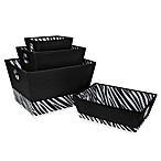 Multi-Purpose Zebra Storage Tote