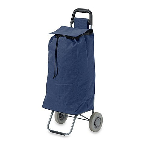 Lifestyle Essentials Rolling Shopping Cart with Bag