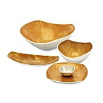 Simply Designz Bodoni Dinnerware Collection in Gold