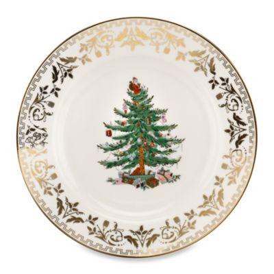Spode® Christmas Tree Gold Dinner Plate