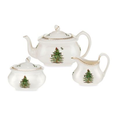 Spode® Christmas Tree Gold 3-Piece Tea Set