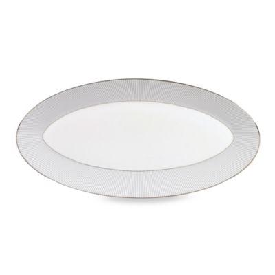 Wedgwood® Jasper Conran 15.5-Inch Platter in Blue Stripe