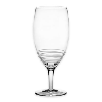Mikasa® Swirl White 22-Ounce Iced Beverage Glass