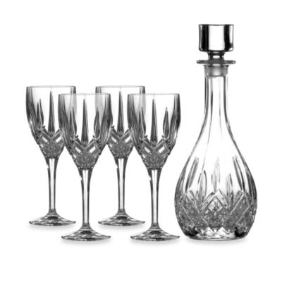 Crystal Wine Decanter with Glasses