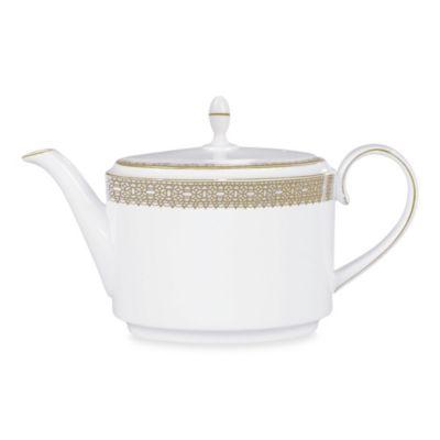 Vera Wang Wedgwood® Vera Lace Gold Teapot