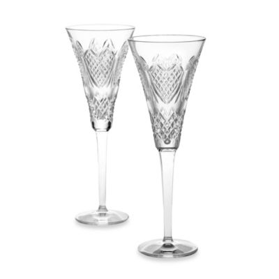Waterford® Wedding Heirloom Champagne Flutes (Set of 2)