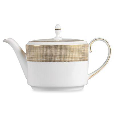 Vera Wang Wedgwood(R) Gilded Weave Teapot