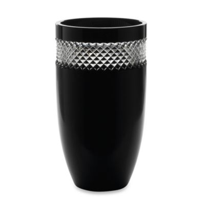 John Rocha at Waterford Black Cut Collection 12-Inch Vase