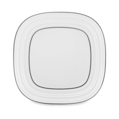 Mikasa® Swirl Square Banded 8-1/2-Inch White Salad Plate