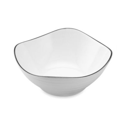 Mikasa® Swirl Square Banded 6-1/2-Inch White Soup Bowl