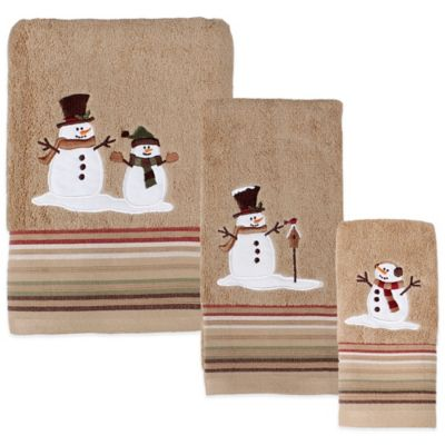 Heartland Snowman Fingertip Towel