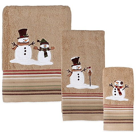 buy heartland snowman hand towel from bed bath beyond