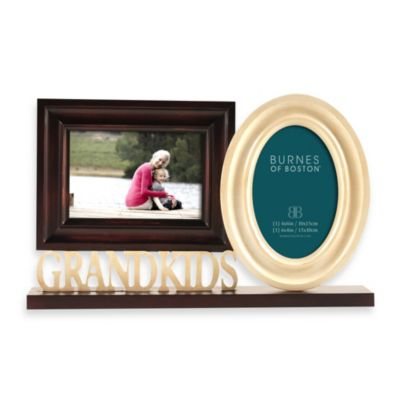 Burnes of Boston Grandkids Double Photo Wood Frame