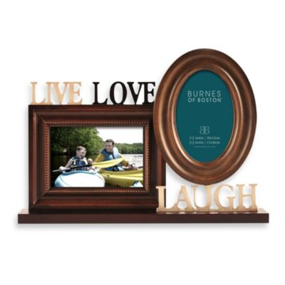 "Burnes of Boston Two-Photo ""Live Love Laugh"" Photo Collage"