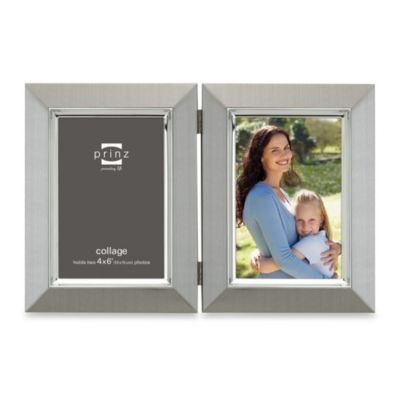 Prinz Hudson 4-Inch x 6-Inch Hinged Metal Frame in Pewter