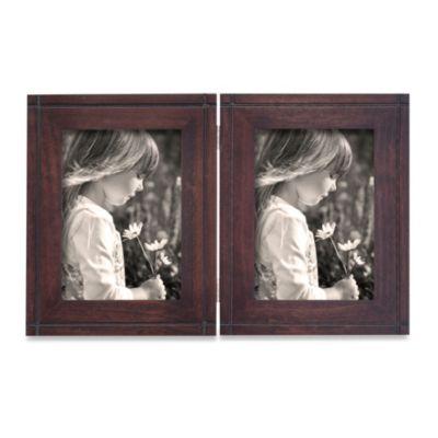 Artisian Frames 5-Inch x 7-Inch Dryden Hinged Frame in Dark Walnut