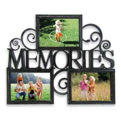 Three-Photo Memories Scroll Wall Collage in Black