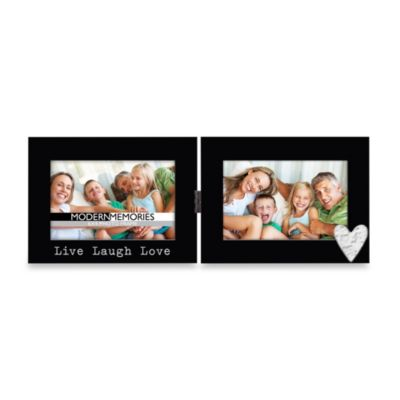 New View Live Laugh Love Classic Icon 4-Inch x 6-Inch Hinged Frame