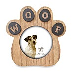Paw Sentiment Frame in Natural Wood