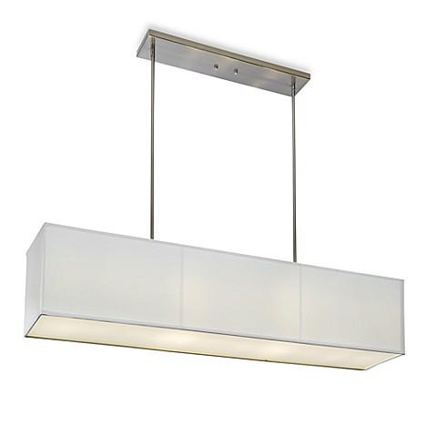 Buy Sharper ImageR Rectangular Pendant Lamp With Off White