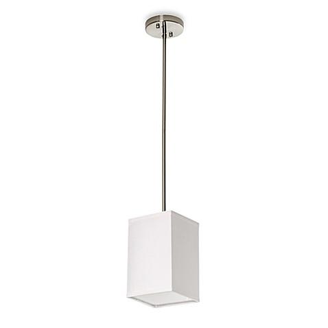 Buy Sharper ImageR Square Pendant Lamp With White Linen