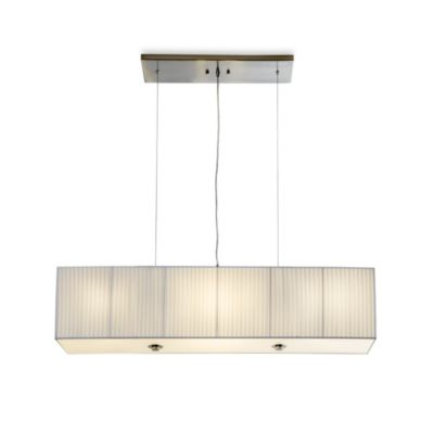 Sharper Image® Rectangular Pendant Lamp with White Plisse Shade