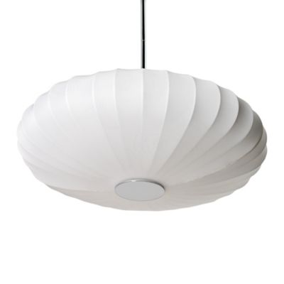 Sharper Image® Pendant Lamp with Off-White Pumpkin Shade