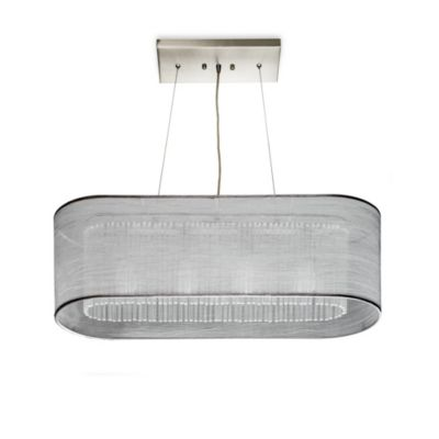 Sharper Image® Pendant Lamp with Silver Silk Shade
