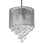 Sharper Image® Textured Silver Shade Pendant Lamp With Glass Spheres