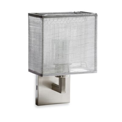 Sharper Image® Rectangular Wall Lamp with Silver Shade
