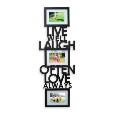 3-Picture Collage Live Laugh Love Sentiment Panel