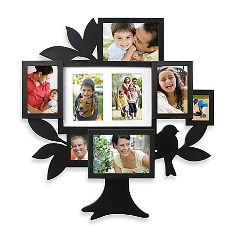 buy 8 picture family tree collage frame from bed bath beyond. Black Bedroom Furniture Sets. Home Design Ideas