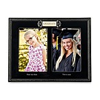 Black Ceramic Then and Now 4-Inch x 6-Inch Graduation Photos Frame
