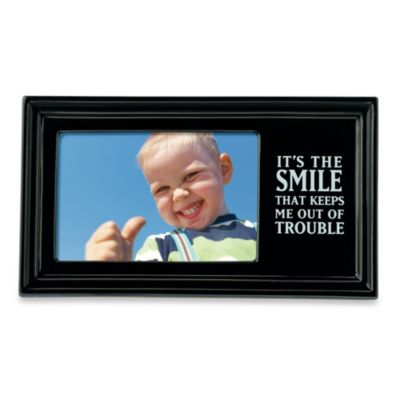 """It's the Smile..."" 4-inch x 6-Inch Photo Frame"