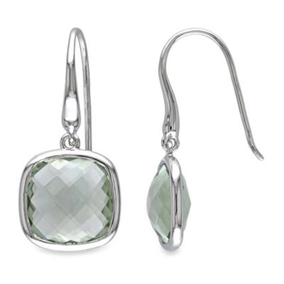 Green Amethyst Charm Earrings