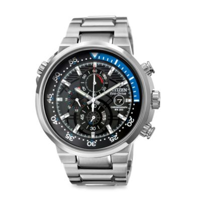 Citizen Men's Eco-Drive Endeavor Chronograph Black Dial Stainless Watch