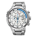 Citizen Men's Eco-Drive Endeavor Chronograph White Dial Stainless Watch
