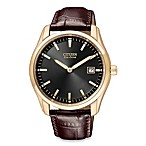 Citizen Men's Eco-Drive Rose Gold Tone Strap Watch