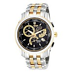 Citizen Men's Eco-Drive Gold Two Tone Stainless Black Dial Watch
