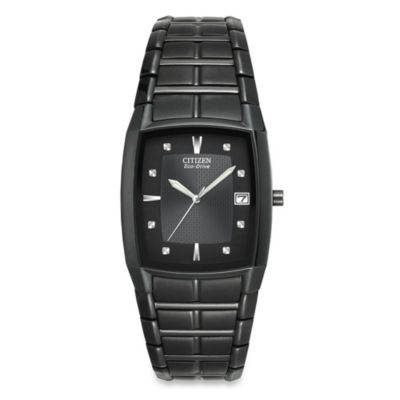 Citizen Men's Eco-Drive Black Ion-Plated Stainless Watch