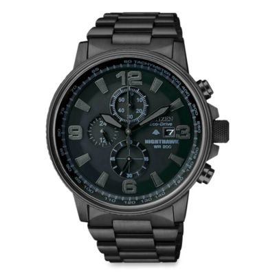 Citizen Men's Eco-Drive Nighthawk Chronograph Watch