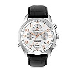 Bulova Men's Precisionist Chronograph Black Leather Watch