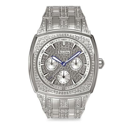 Bulova Men's Crystal Day-Date Watch