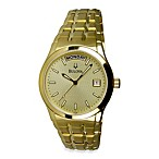 Bulova Men's Dress Collection Stainless Steel Gold Tone Watch