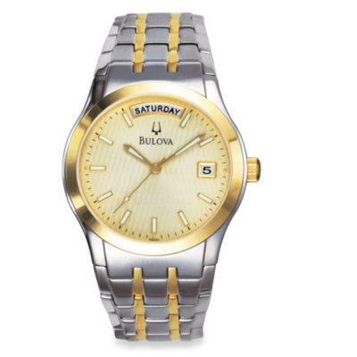 Bulova Men's Dress Collection Two-Tone Bracelet Watch