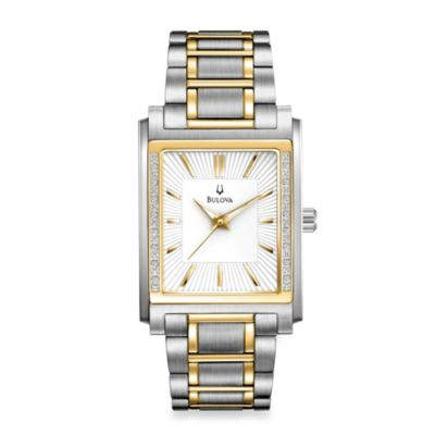 Bulova Men's Diamond Case Two-Tone Watch
