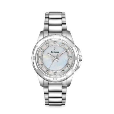 Bulova Diamond Collection Women's Stainless Steel Bracelet Watch