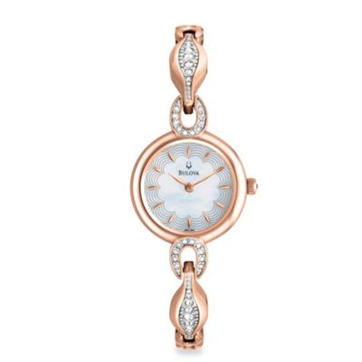 Bulova Women's Crystal Bangle Watch